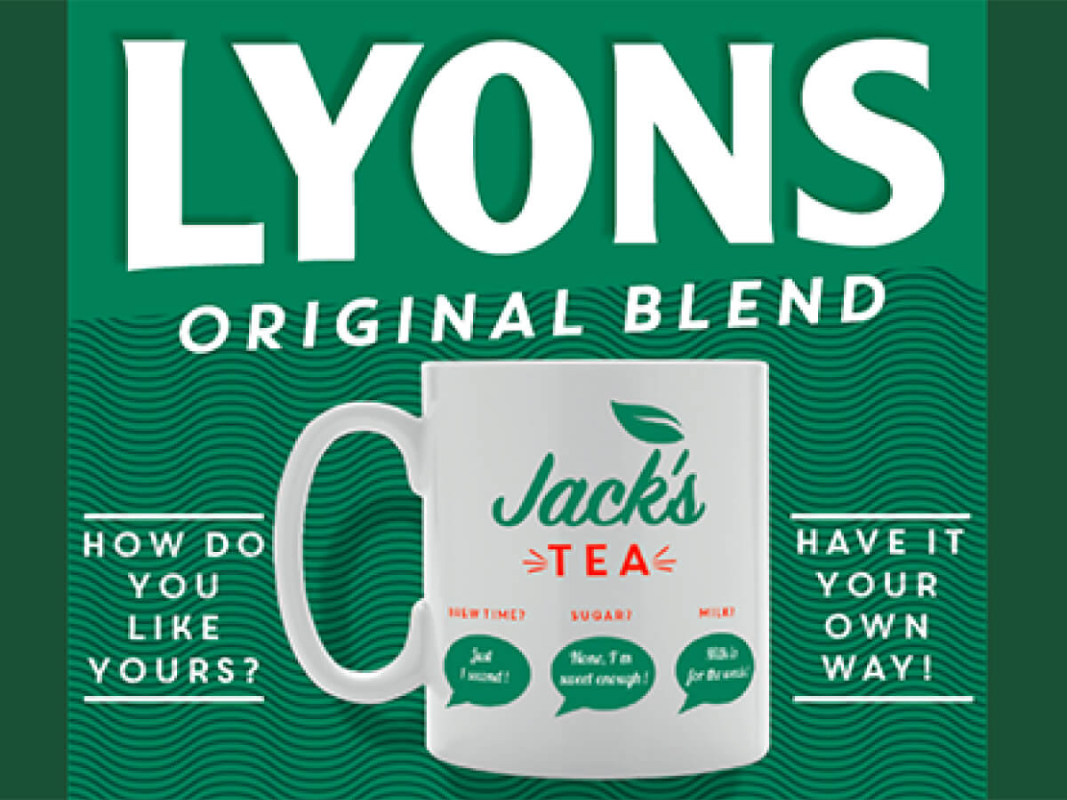 Helping Lyons Tea to get personal